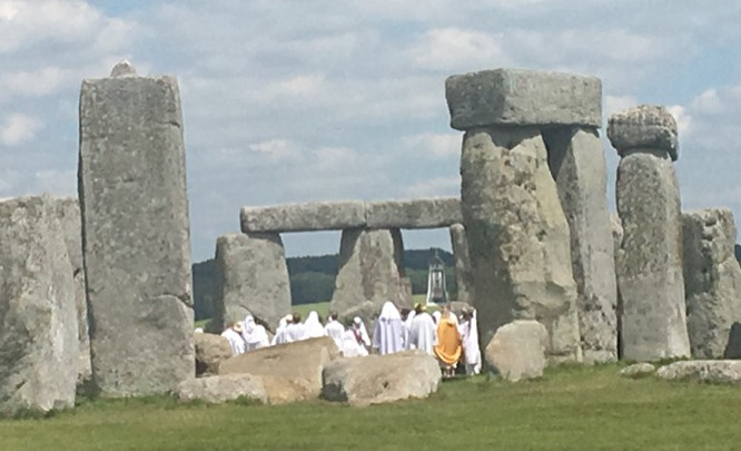 Local druids celebrating the summer solstice