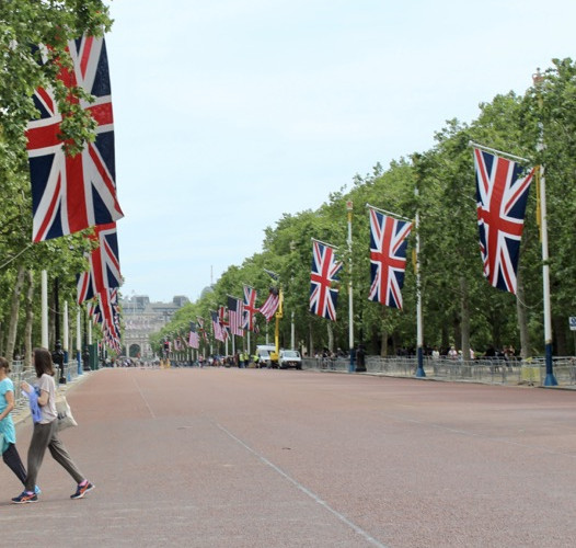 Mall is the route from Buckingham Palace through Admiralty Arch and to Trafalgar Square