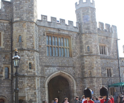 Royal Guard at the lower ward of Windsor Castle