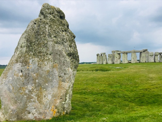 Sarsen Heel Stone in the foreground