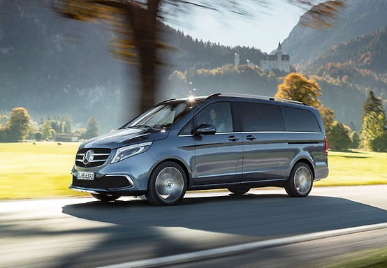 Travel in comfort in our Mercedes V-Class