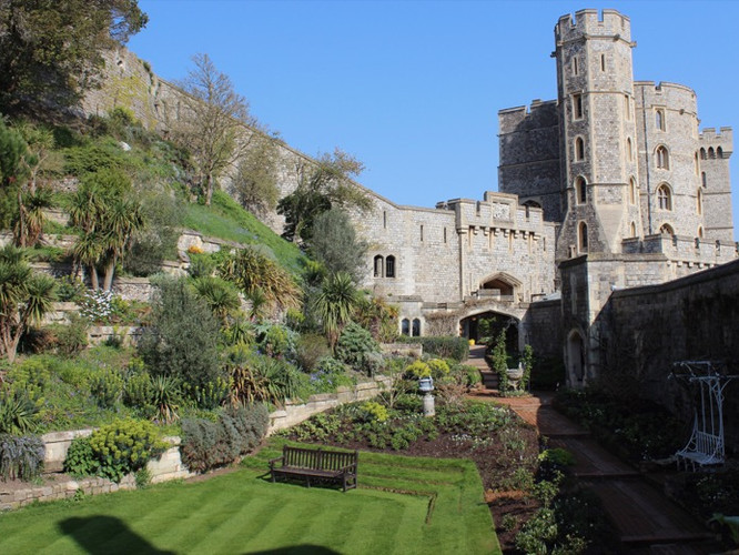 Gardens within the most romantic castle in the world.