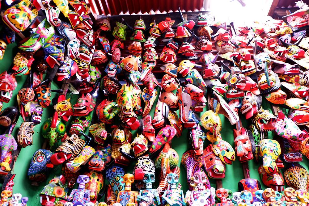 Guatemalan Masks Colorful Mayan Masks