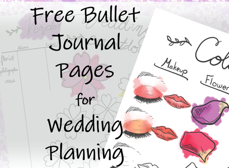 Bullet Journal Pages to Simplify Your Wedding Planning (WITH FREE PDF DOWNLOAD)