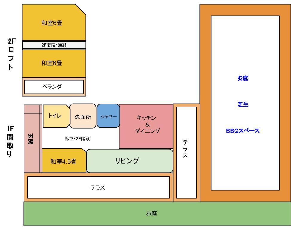 貸別荘☆古宇利【見取り図】