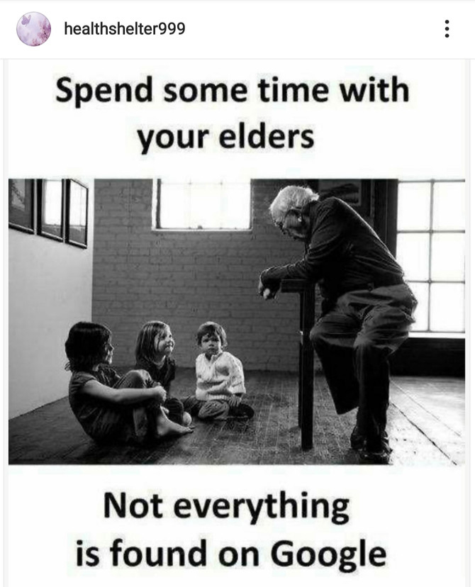 spend some time with your elders