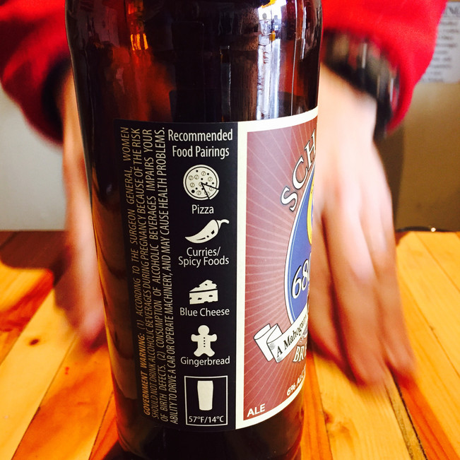 Schubros Brewery's 680 IPA comes with a list of recommended food pairings.