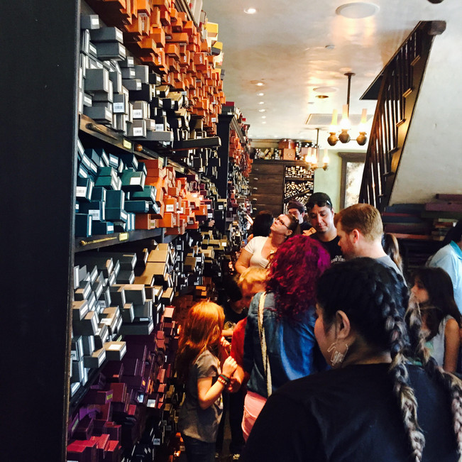 Ollivander's Wand shop is as magical as it sounds.