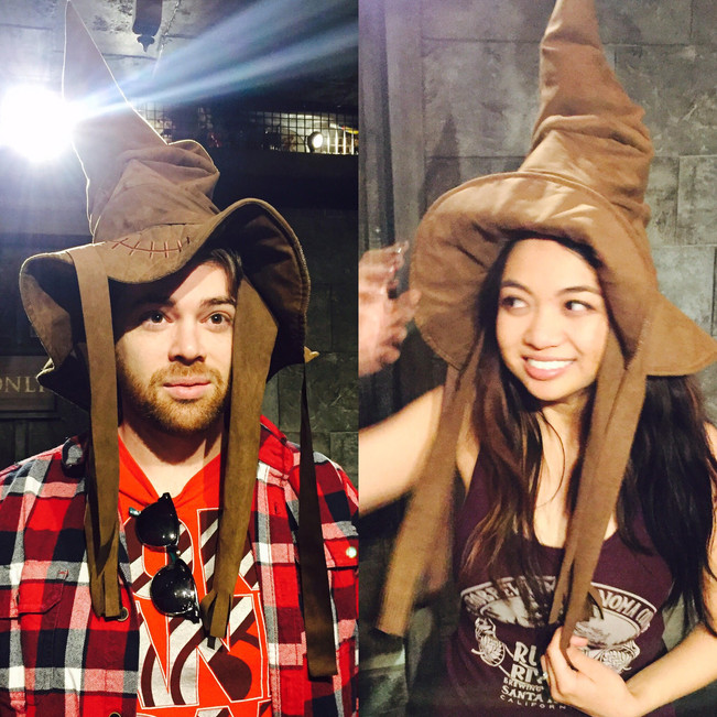Grant was sorted into Hufflepuff and I joined Ravenclaw. See you soon, Luna and Cho!