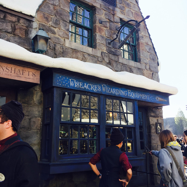 If you want to skip the wand show, enter Ollivander's through Wiseacre's Wizarding Equipment.
