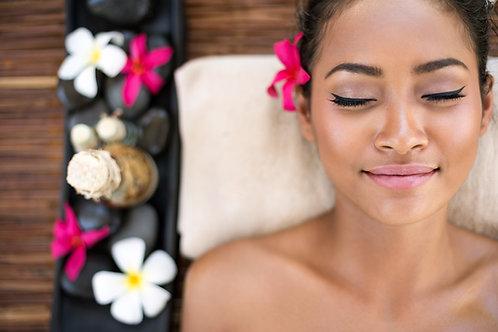 Massage 60 mins: Polynésien aux coquillages chauffants