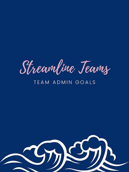 Team Admin Goals - Checklist & Weekly Planner Sheet