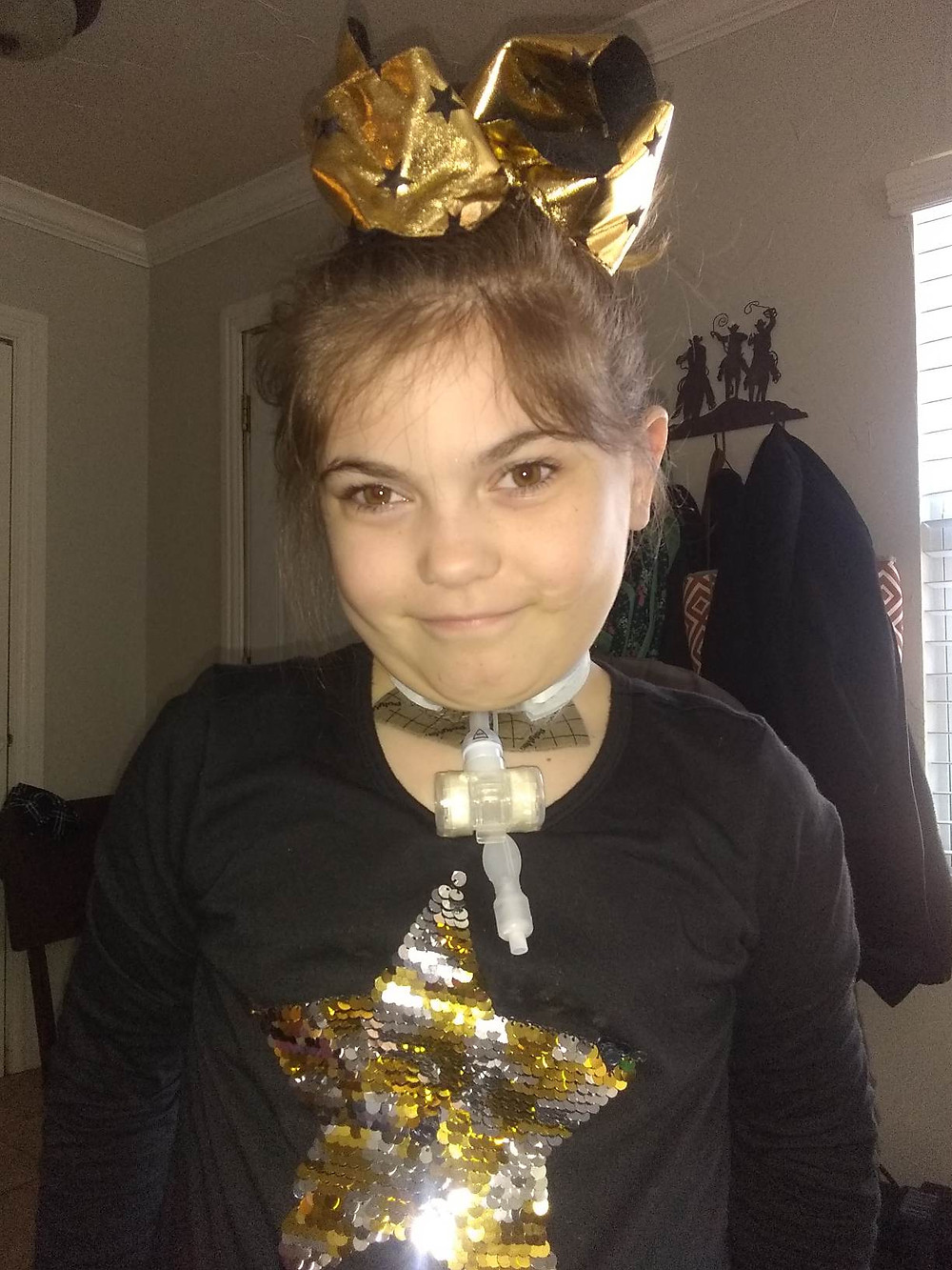 Brylie is trach dependent because of her diagnosis of Leigh's Disease and M.E.L.A.S.