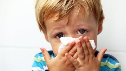 RSV infants or children, difficulty breathing, sneezing
