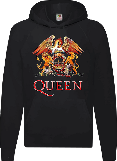 SUDADERA QUEEN LOGO COLOR - CMS170