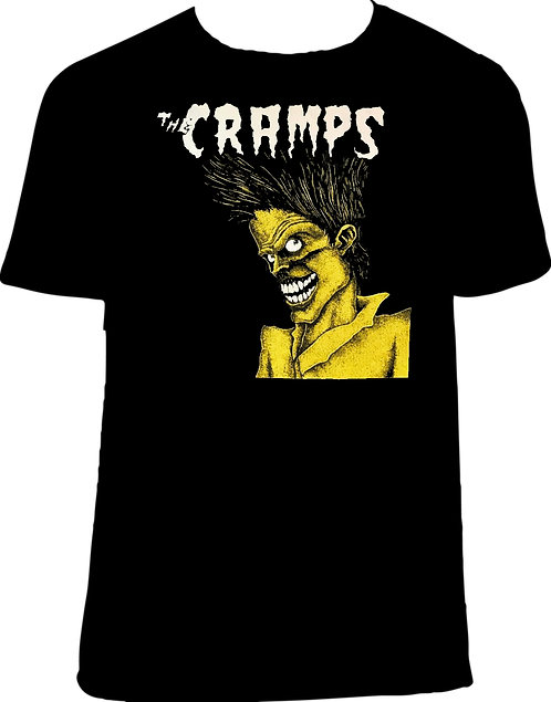 CM186 CAMISETA THE CRAMPS BAD MUSIC FOR BAD PEOPLE