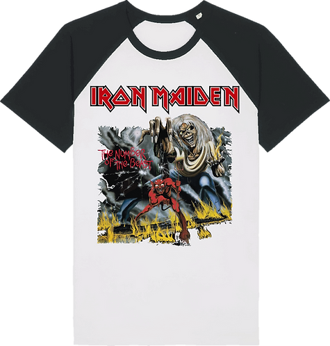 CM028 CAMISETA IRON MAIDEN THE NUMBER OF THE BEAST