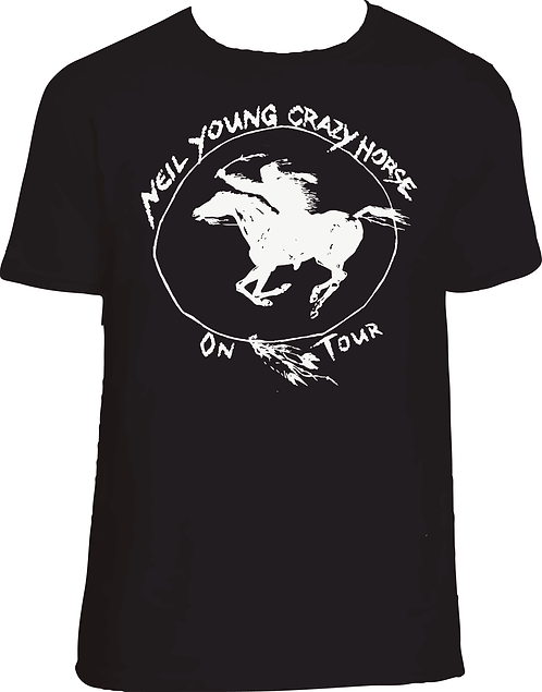 CM184 CAMISETA NEIL YOUNG CRAZY HORSE
