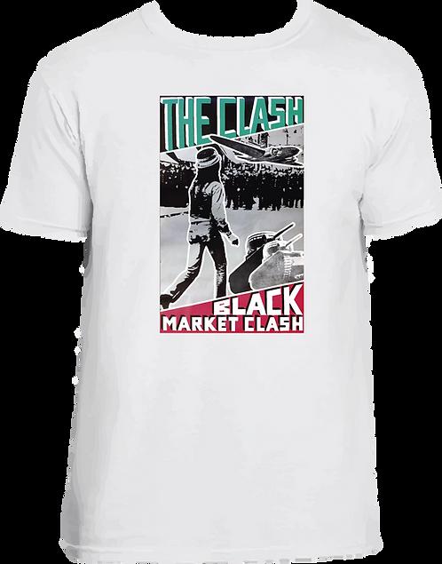 CM059 CAMISETA THE CLASH BLACK MARKET