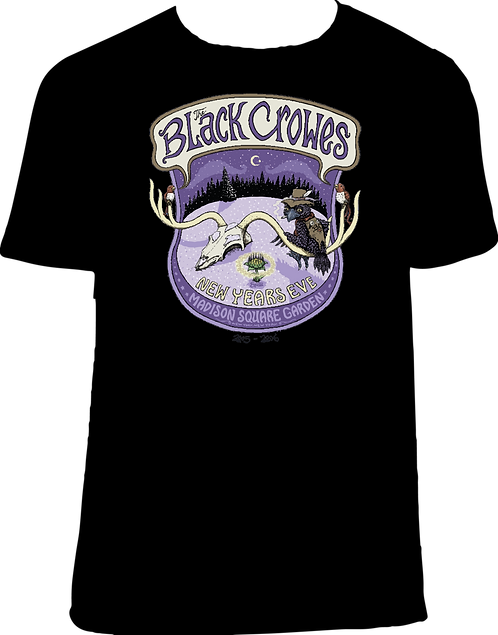 CM195 CAMISETA THE BLACK CROWS NEW YEAR EVE