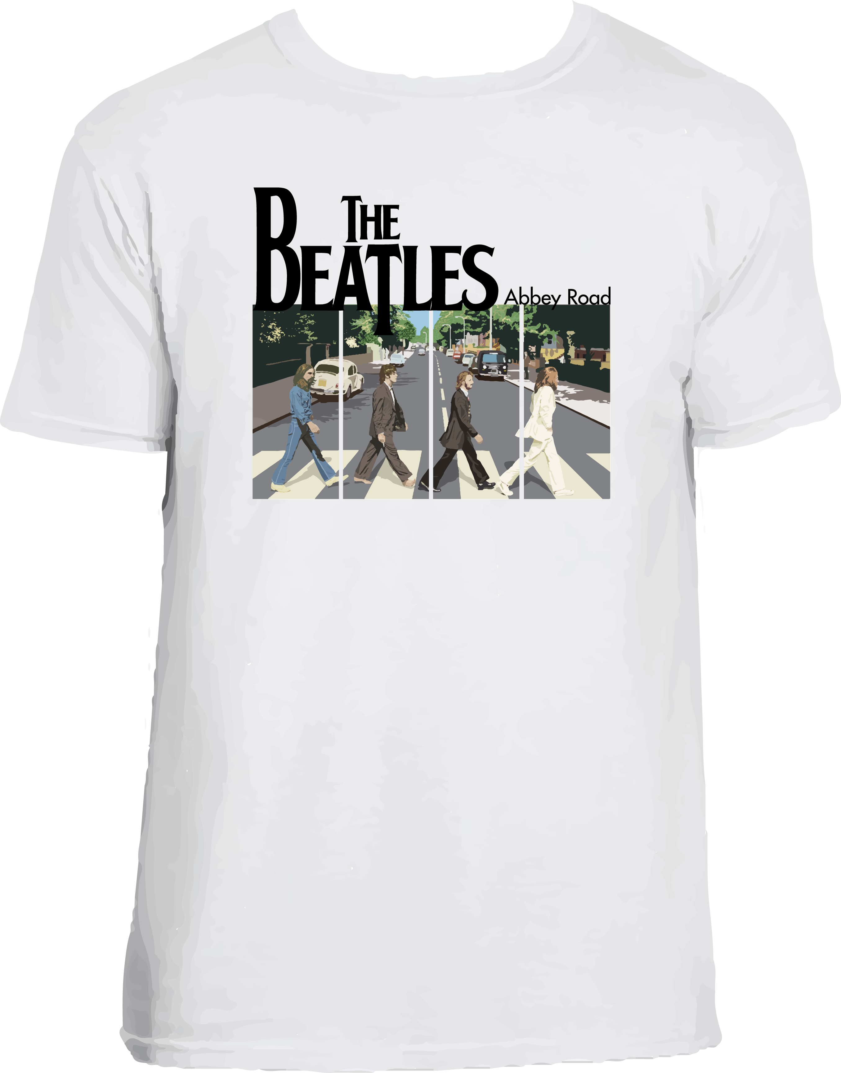 BEATLES ABBEY CAMISETA BLANCA