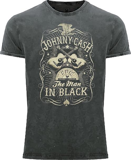 CM264 CAMISETA JOHNNY CASH THE MAN IN BLACK