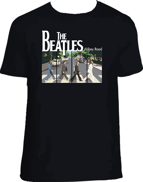 DM008 CAMISETA BEATLES ABBEY ROAD