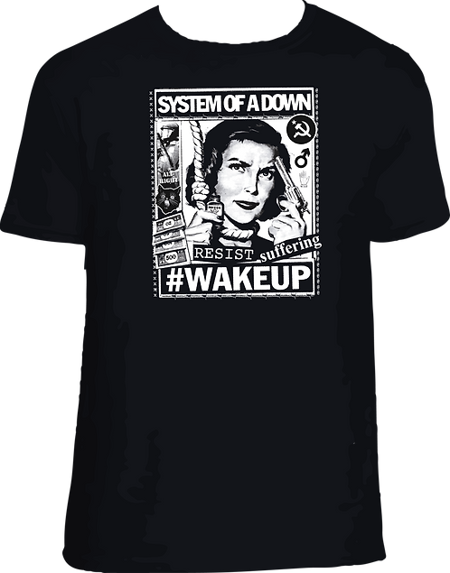 CM152 CAMISETA SYSTEM OF A DOWN WAKE UP