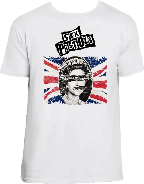 CM071 CAMISETA SEX PISTOLS GOD SAVE THE QUEEN