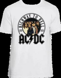 AC DC HIGHWAY camiseta blanca