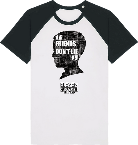 CS041 CAMISETA STRANGER THINGS FRIENDS DON'T LIE