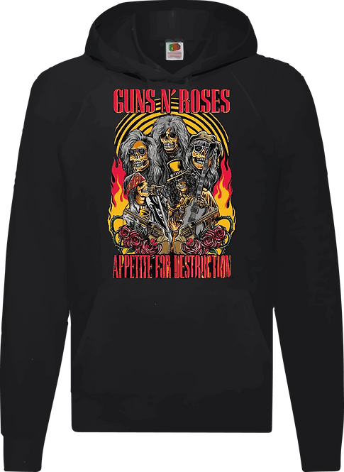 SUDADERA GUNS AND ROSES APPETTITE FOR DESTRUCTION - CMS154