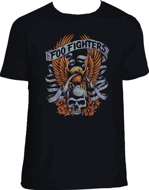 CM018 CAMISETA FOO FIGHTERS 001