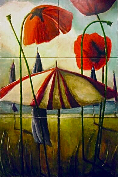 Poppies and Parsols (sold)