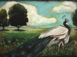 View With Peacock-SOLD