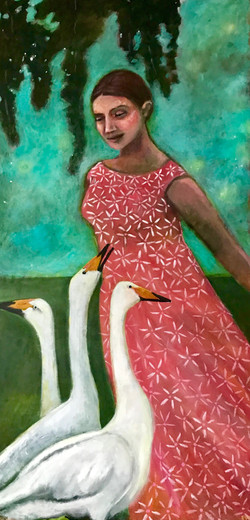 Moonlight With Swans - Sold