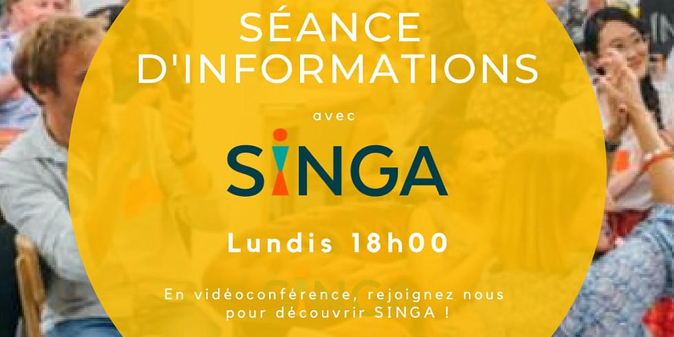 Vidéoconférence : Réunion d'information SINGA