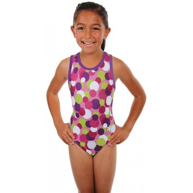 AWESOME DOTS LEOTARD (PINK)