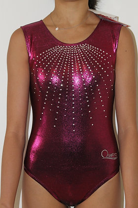 QUATRO TEARDROP LEOTARD BLACKBERRY