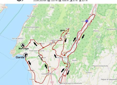 Lago, Baldo, Adige ...e un breve sterrato. 90 km per unire tre territori unici