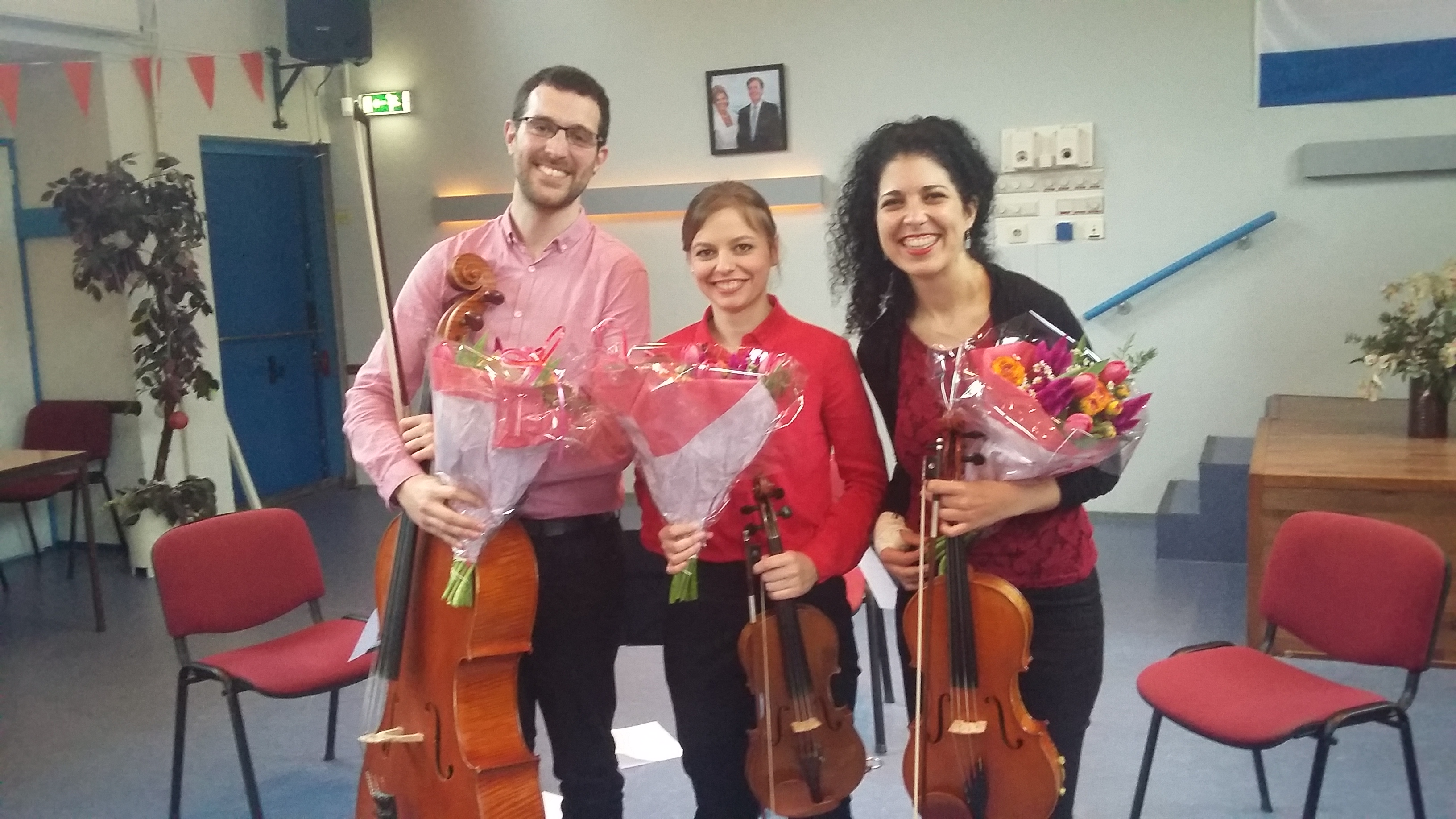 String Trio after performing