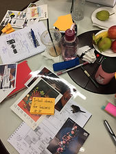 A creative colourful environment for ideas experimentation