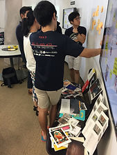 Visualising each other's ideas through colourful images and artifacts