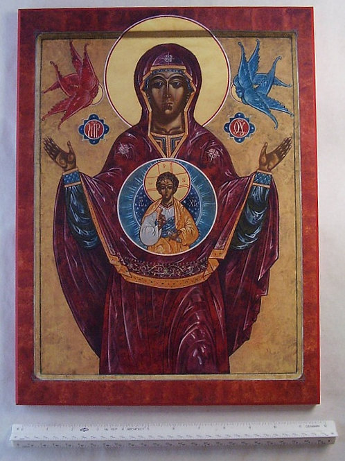 Our Lady of the Sign Icon 12x16 Plaque