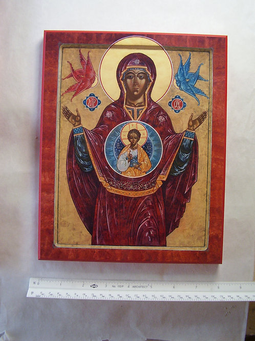 Our Lady of the Sign Icon 8x10 Plaque