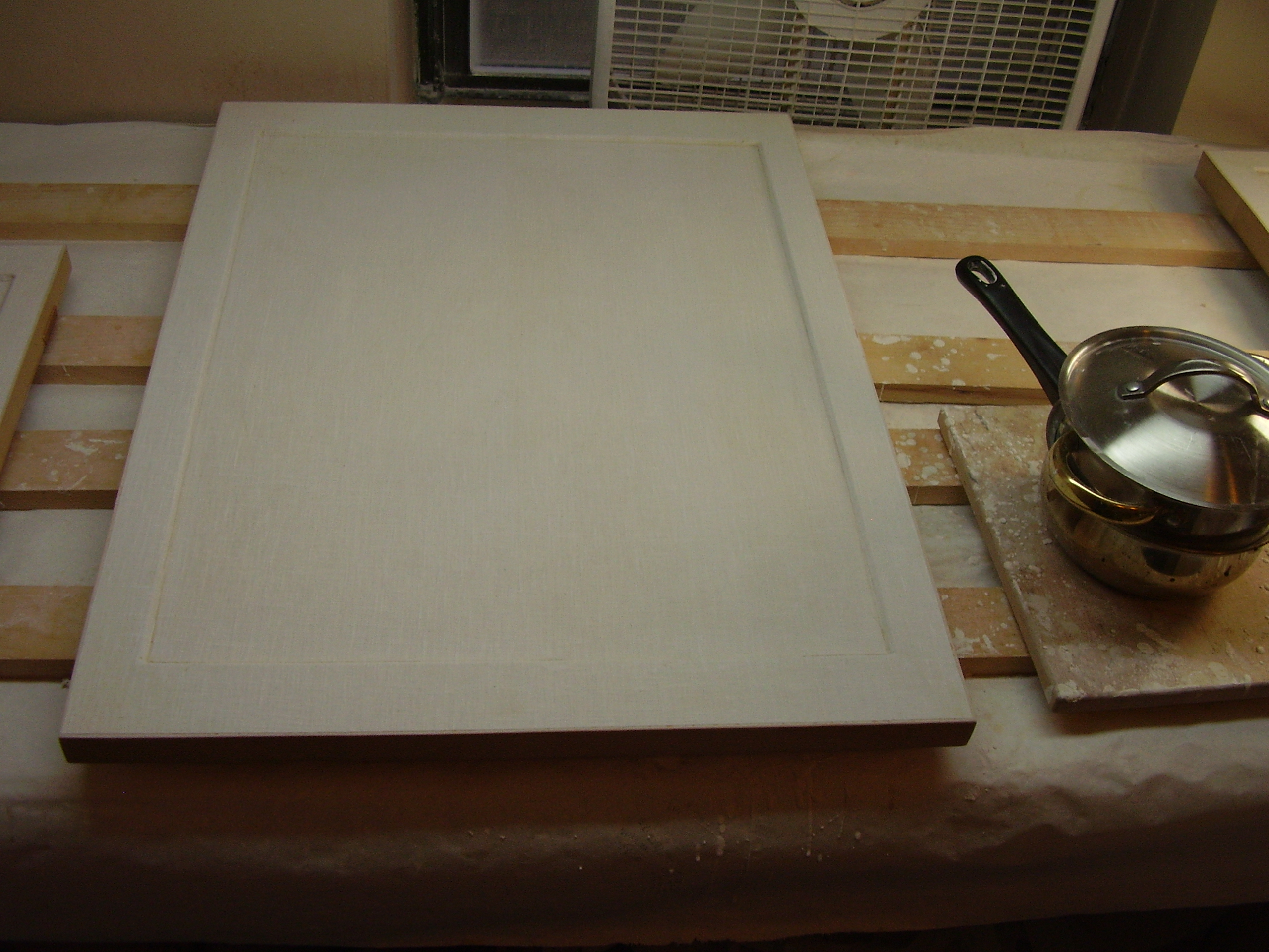 first coats of gesso