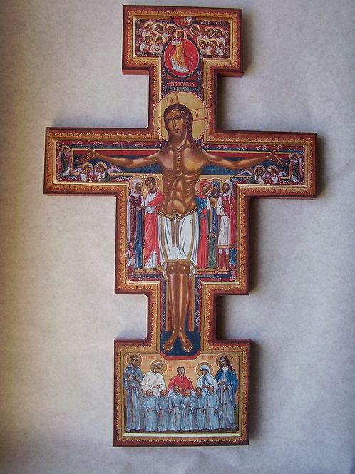 C.F.R.      SAN DAMIANO CROSS      20x15 Plaque