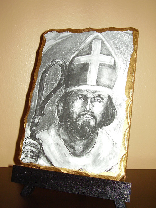 Saint Patrick Icon (b&w)
