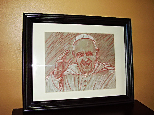 Pope Francis Grinning Portrait