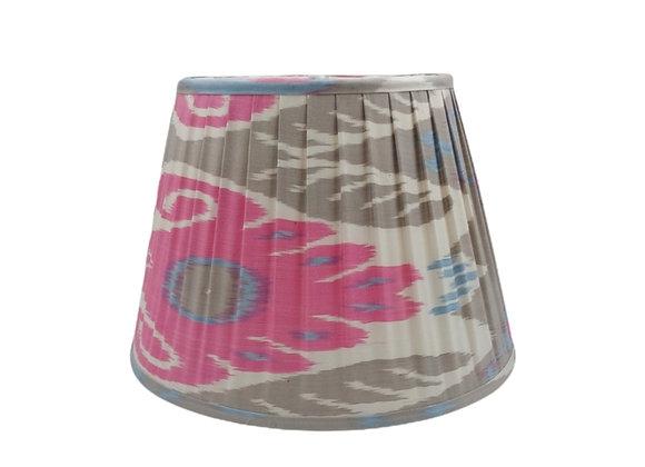 35cm Kooky Silk Pleated Ikat Lampshade
